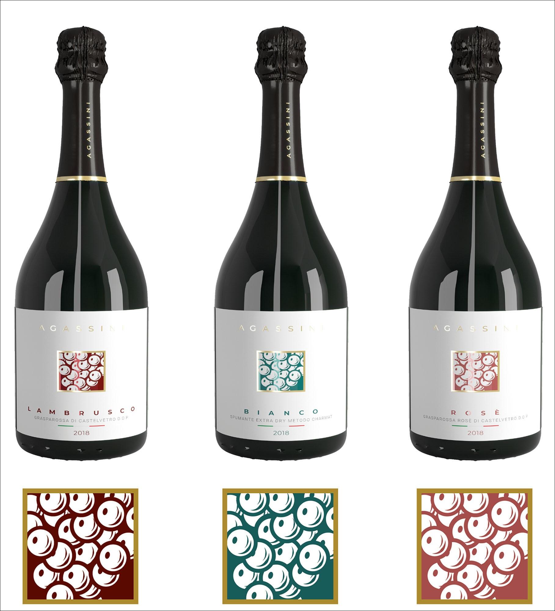 cantina agassini wine label