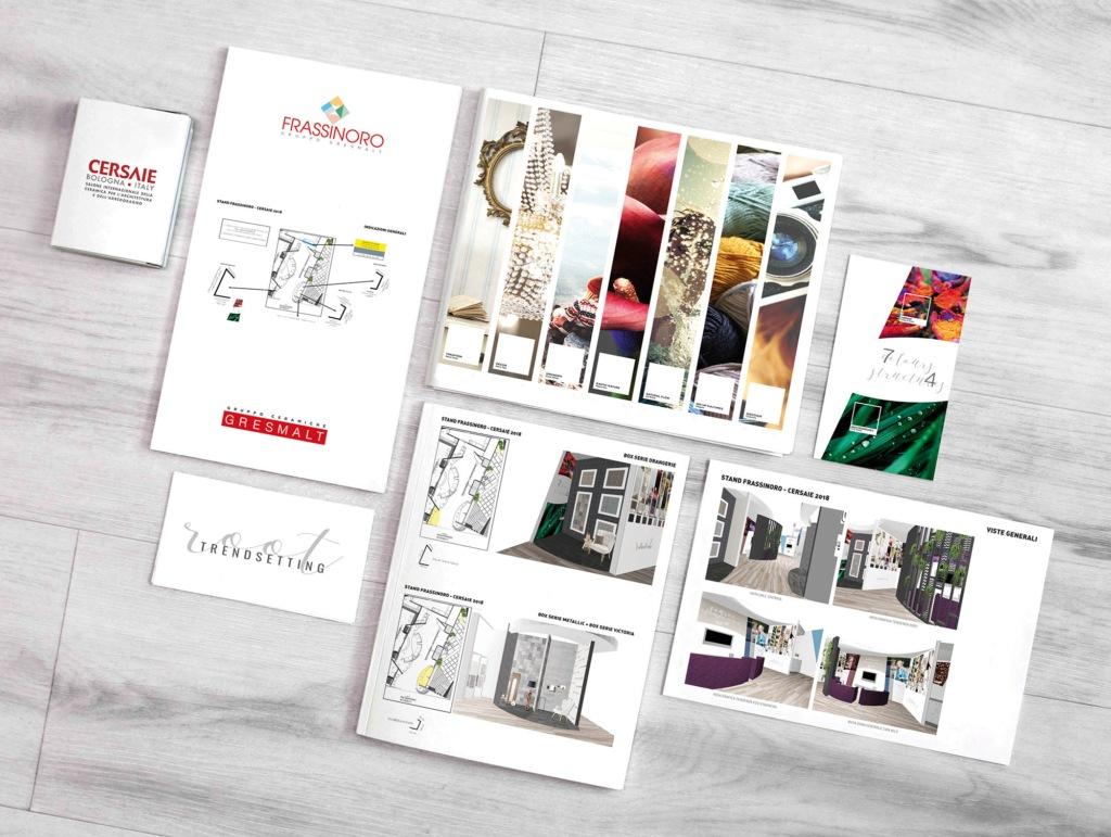 Hipix print adv ceramiche frassinoro gruppo gresmalt progetto grafico stand cersaie 2018 immagine 2