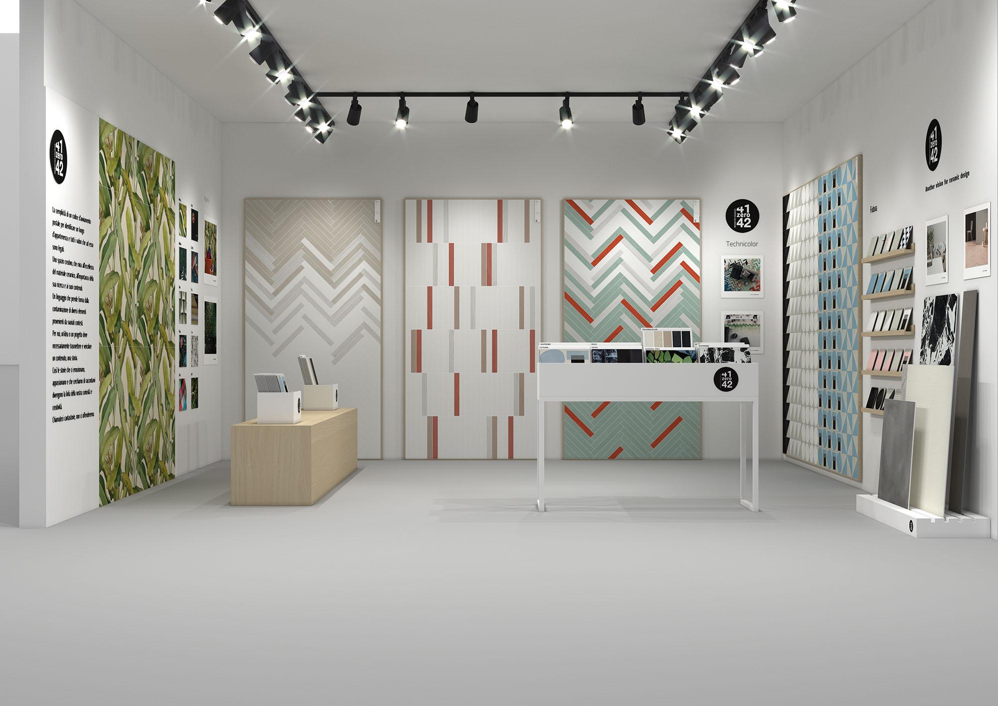 Hipix portfolio categoria merchandising: progetto grafico sala mostra 1 Ceramiche 41zero42 immagine 1