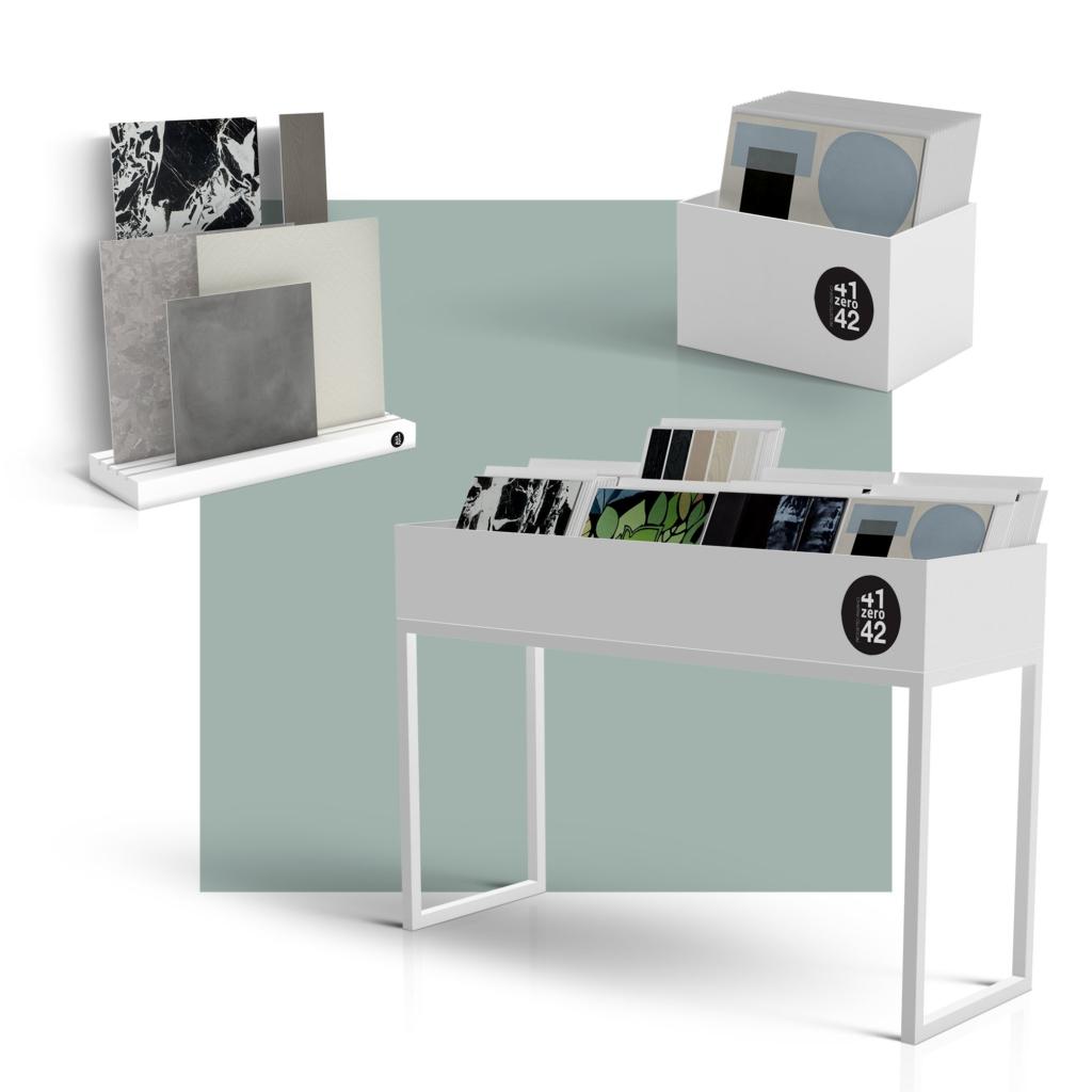 Hipix portfolio categoria merchandising: progetto grafico sala mostra 1 Ceramiche 41zero42 immagine 2