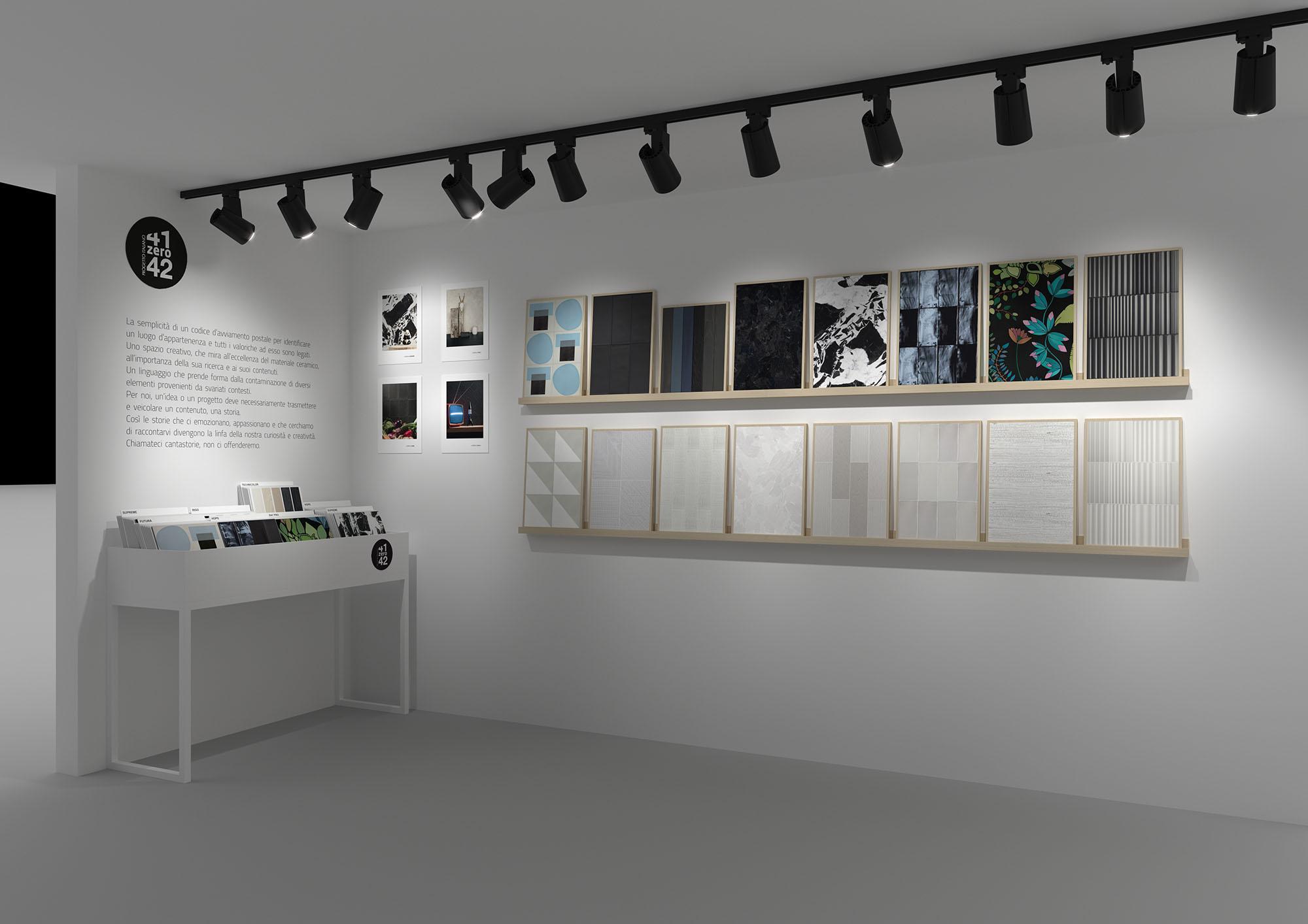 Hipix portfolio categoria merchandising: progetto grafico sala mostra 2 Ceramiche 41zero42 immagine 1
