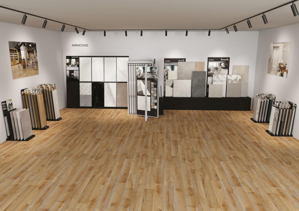 Merchandising progetto sala mostra hipix per Gruppo Armonie
