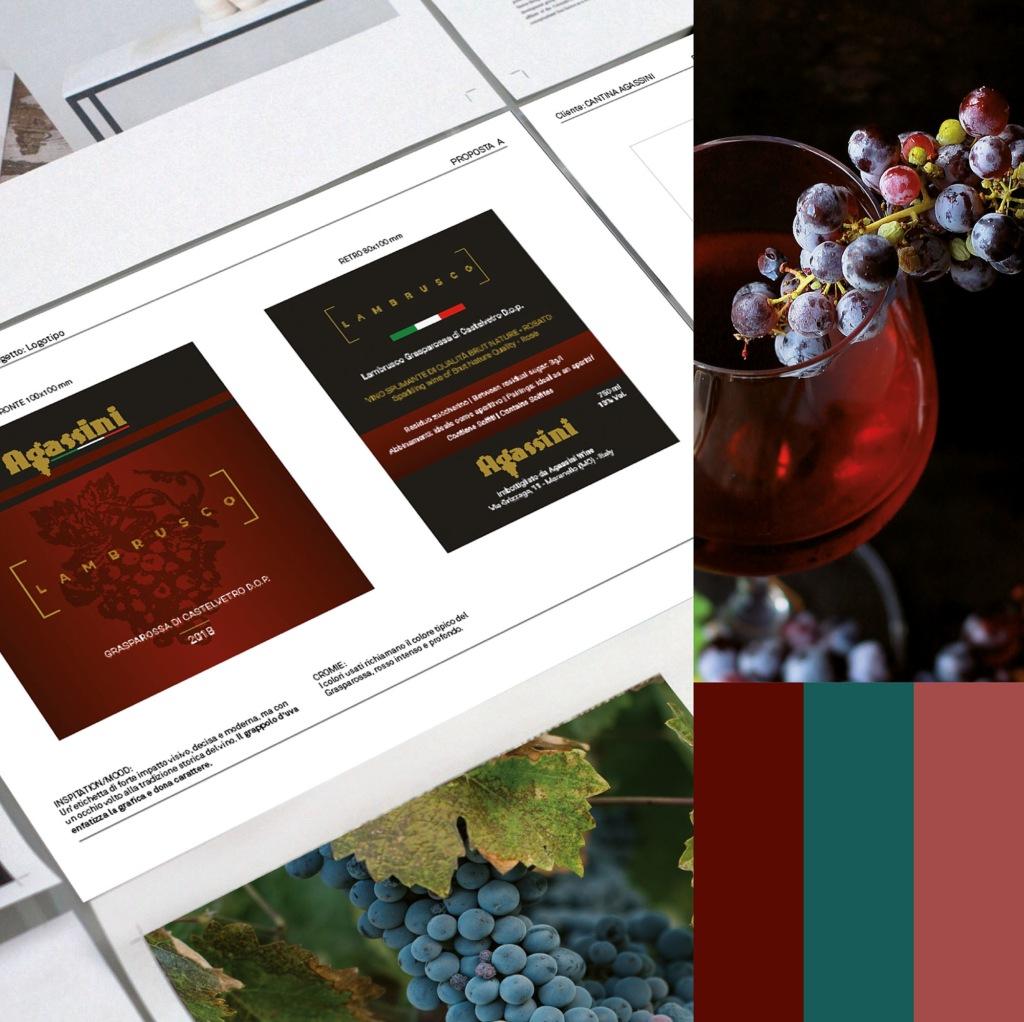 Hipix print adv cantina agassini wine label immagine 1
