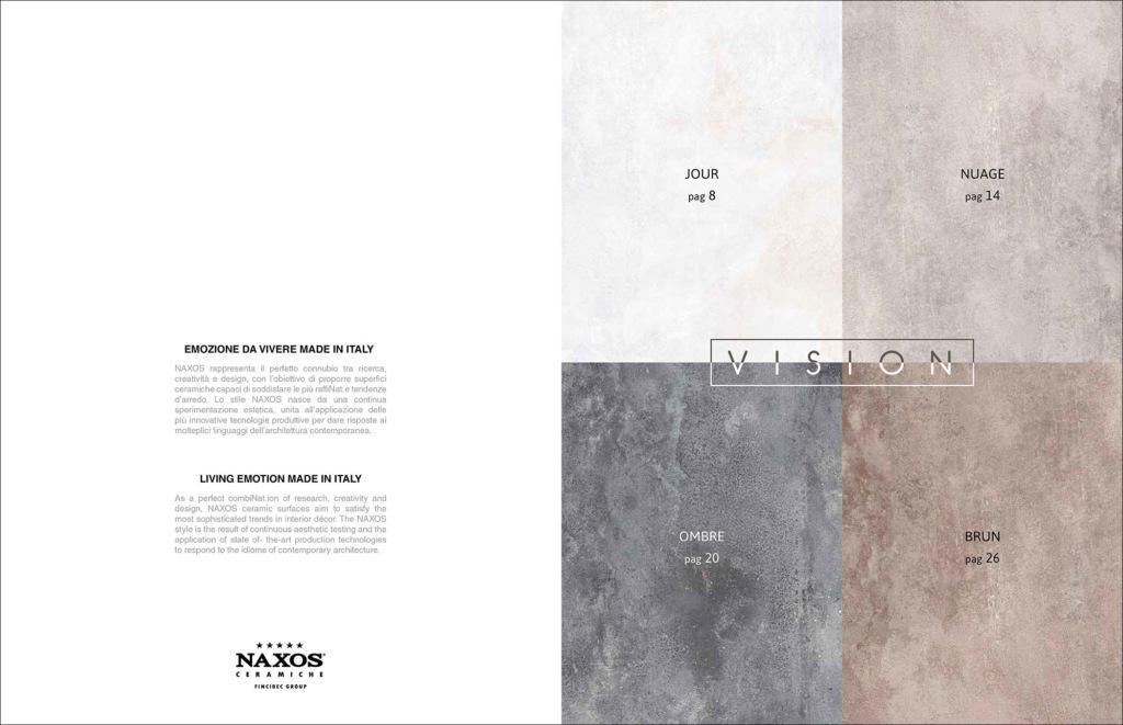 Hipix portfolio print adv Catalogo Vision Ceramica Naxos Fincibec Group immagine 2