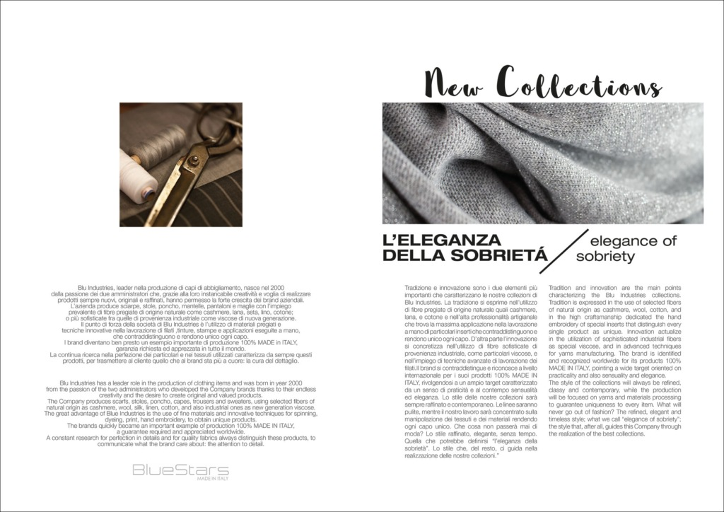 Hipix portfolio print adv Fashion Look Book Blue Stars immagine 2